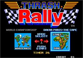 Select Screen for Thrash Rally.