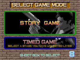 Select Screen for Time Crisis.