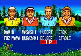 Select Screen for Top Player's Golf.