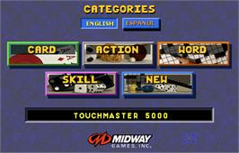 Select Screen for Touchmaster 5000.