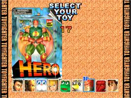 Select Screen for Toy Fighter.