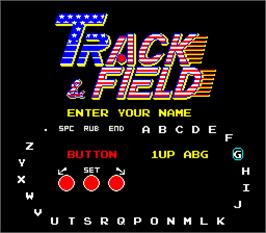 Select Screen for Track & Field.