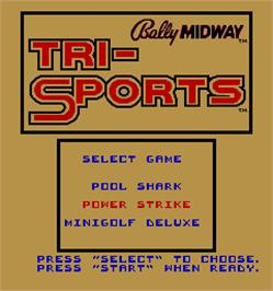 Select Screen for Tri-Sports.