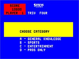 Select Screen for Triv Four.