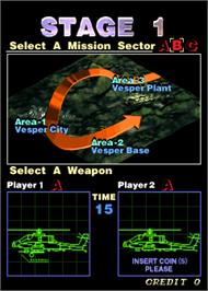 Select Screen for Twin Eagle II - The Rescue Mission.