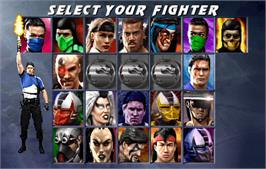 Select Screen for Ultimate Mortal Kombat 3.