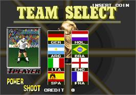 Select Screen for V Goal Soccer.