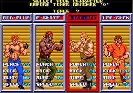 Select Screen for Violence Fight.