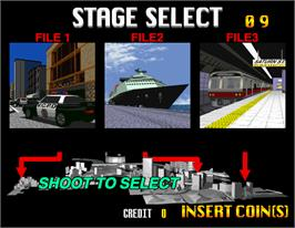 Select Screen for Virtua Cop 2.