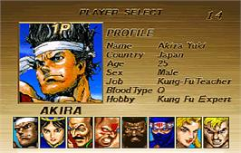 Select Screen for Virtua Fighter Remix.