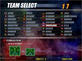 Select Screen for Virtua Striker 2 Ver. 2000.