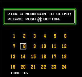Select Screen for Vs. Ice Climber.