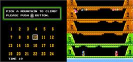 Select Screen for Vs. Ice Climber Dual.