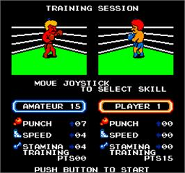 Select Screen for Vs. T.K.O. Boxing.