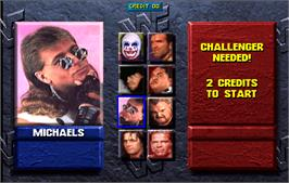 Select Screen for WWF: Wrestlemania.