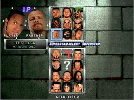 Select Screen for WWF Royal Rumble.