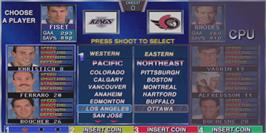 Select Screen for Wayne Gretzky's 3D Hockey.