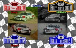Select Screen for World Rally.