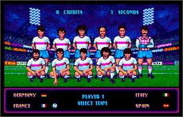 Select Screen for World Trophy Soccer.