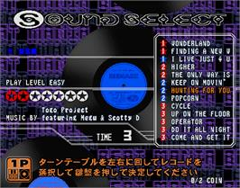 Select Screen for beatmania 5th MIX.
