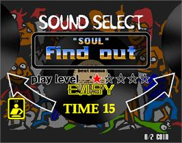 Select Screen for beatmania complete MIX.