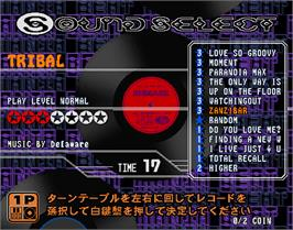 Select Screen for beatmania complete MIX 2.