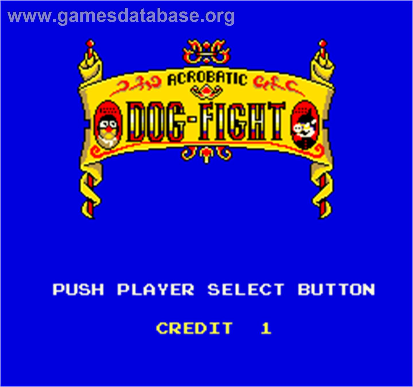 Dog-Fight - Arcade - Artwork - Select Screen