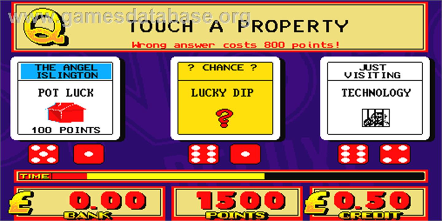 Monopoly Deluxe - Arcade - Artwork - Select Screen