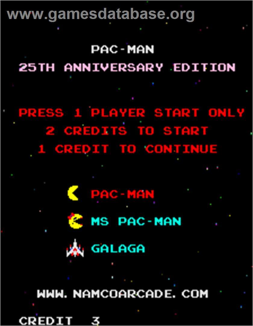 Pac-Man - 25th Anniversary Edition - Arcade - Games Database
