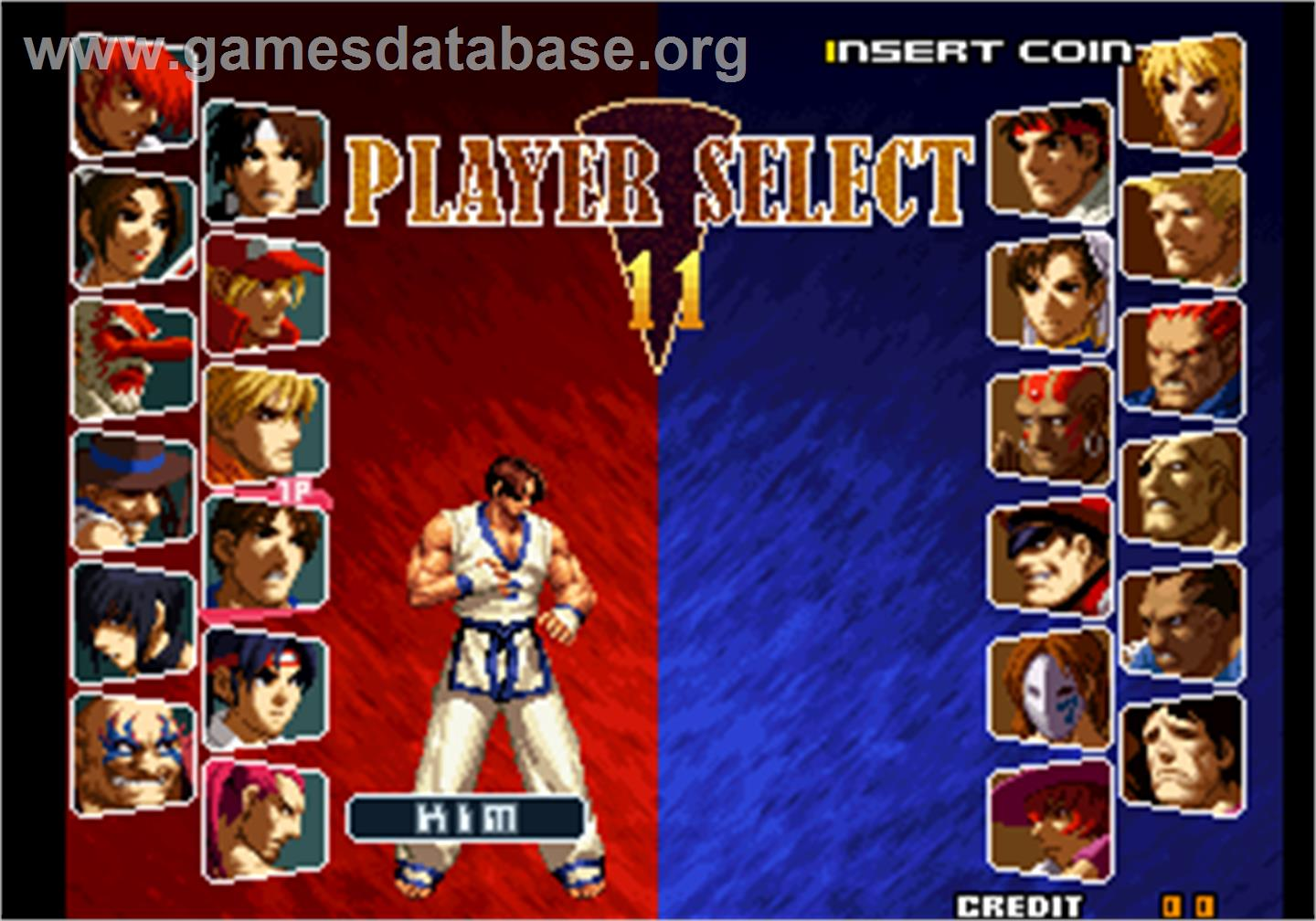 SNK vs. Capcom - SVC Chaos - Arcade - Artwork - Select Screen