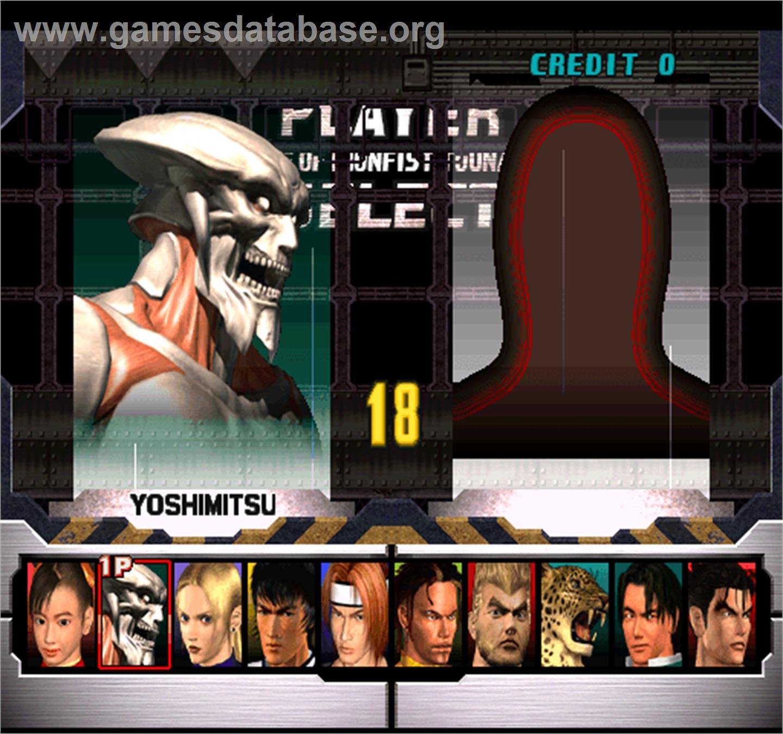Tekken 3 Arcade Artwork Select Screen