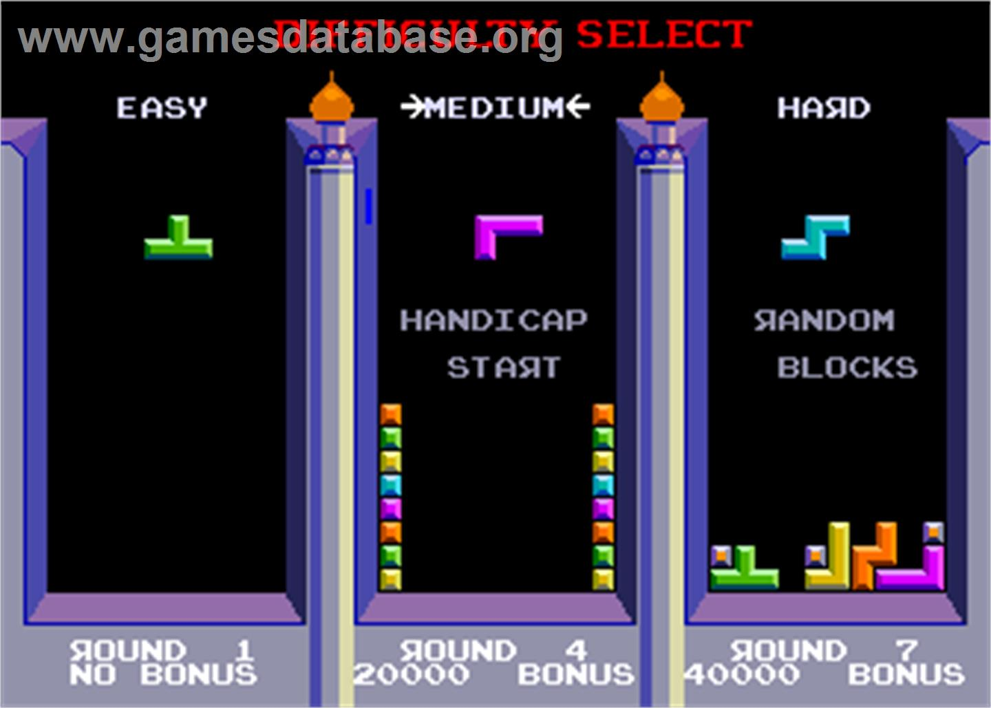 Tetris - Arcade - Artwork - Select Screen
