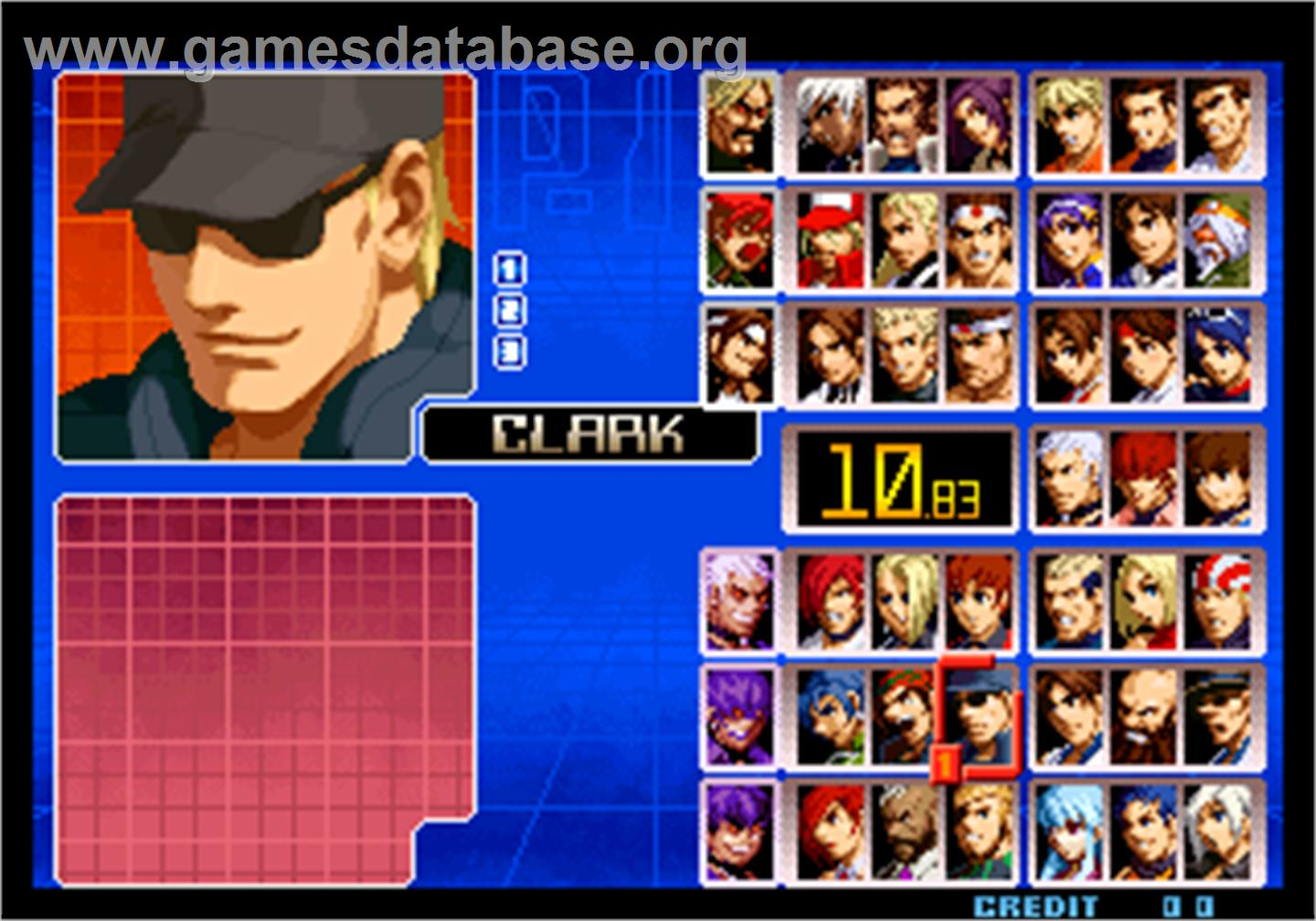 The King of Fighters 2002 Magic Plus II - Arcade - Artwork - Select Screen
