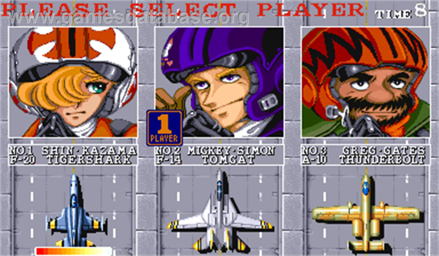 U.N. Squadron - Arcade - Artwork - Select Screen