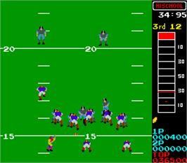In game image of 10-Yard Fight on the Arcade.