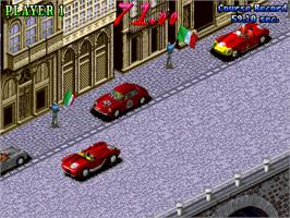 In game image of 1000 Miglia: Great 1000 Miles Rally on the Arcade.