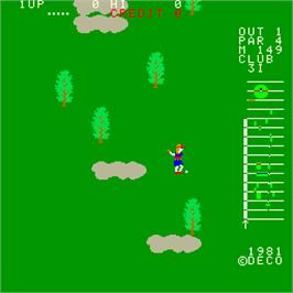 In game image of 18 Holes Pro Golf on the Arcade.