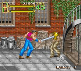 In game image of 64th. Street - A Detective Story on the Arcade.