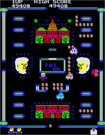 In game image of Abscam on the Arcade.