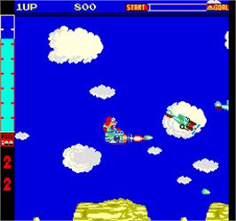 In game image of Acrobatic Dog-Fight on the Arcade.