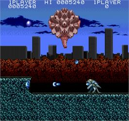 In game image of Act-Fancer Cybernetick Hyper Weapon on the Arcade.