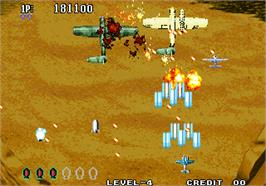 In game image of Aero Fighters 3 / Sonic Wings 3 on the Arcade.