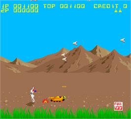 In game image of Aeroboto on the Arcade.