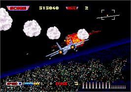 In game image of After Burner II on the Arcade.