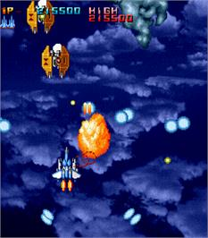 In game image of Air Attack on the Arcade.