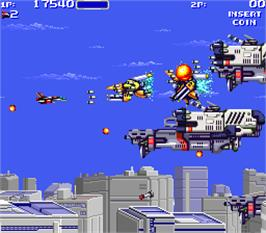 In game image of Air Buster: Trouble Specialty Raid Unit on the Arcade.