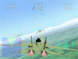 In game image of Air Combat 22 on the Arcade.