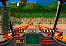 In game image of Air Rescue on the Arcade.