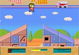 In game image of Alex Kidd: The Lost Stars on the Arcade.