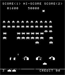 In game image of Alien Invasion Part II on the Arcade.